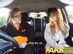 Fake driving school creampie in nerdy ginger teen hairy muff movies at find-best-babes.com