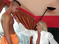 Freshly divorced mum worshiped by her boy-toy videos