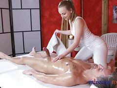 Massage rooms loud orgasms and creampie for fat cock videos