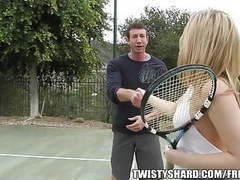 Big booty blond gets fucked after tennis movies