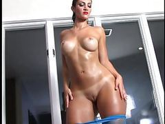French bbw rosee divine pops her oiled booty. movies