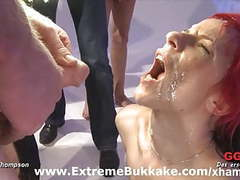 Model goes wild in bukkake orgy movies at find-best-babes.com