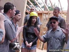 Teanna trump gets gangbanged on a construction site tubes