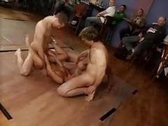 Brunette gangbang and bukkake m27 movies at kilovideos.com