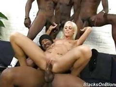 Skinny white girl fucked hard at black ghetto tubes