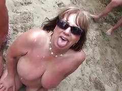 Nude beach - matures bukake party videos