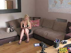 Fakeagentuk blonde wannabe loves sucking and fucking movies at kilovideos.com