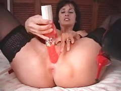 British milf fucks herself with a pair of high heeled shoes videos