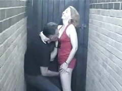 English milf has a quickie in the alley ! movies at find-best-hardcore.com