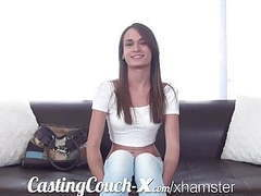 Casting couch-x georgia peach excited to do porn for $ movies