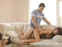 Nubiles casting-porn tryouts for busty babe ends with facial videos