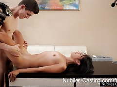 Nubiles casting - will a pussy full of jizz get her the job? videos
