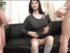 Big boobed french milf hard analyzed for her casting couch movies