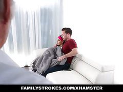 Familystrokes - almost caught fucking her step-bro by dad movies at kilopics.com