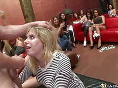 Horny girls suck and fuck male strippers movies at freekilomovies.com
