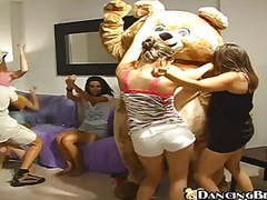 Birthday girl gets fucked at dancing bear party videos