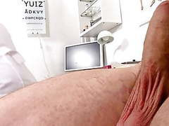 Mature blonde nurse measures patients penis soft and erect videos