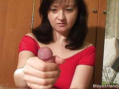 Maya giving nice handjob videos