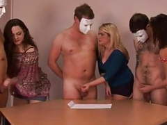 Femdom cfnm group handjob racing movies at freekilomovies.com