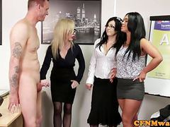 Euro cfnm femdom sucking cock in office movies at kilovideos.com