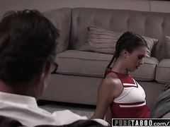 Pure taboo teen cheerleader caught fucking old pervert movies at find-best-mature.com