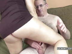 Brunette coed alisha adams gets fucked by a lucky geek tubes