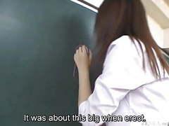 Subtitled japanese akira watase classroom blowjob lecture movies at kilopills.com