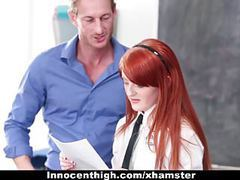 Innocenthigh - cute redhead student fucks drama teacher movies at freekiloporn.com