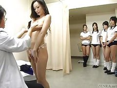 Subtitled cmnf japanese schoolgirls group medical exam videos