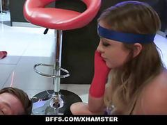 Bffs - superhero teens fucked on halloween tubes