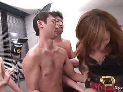 Young japanese schoolgirl in a fuck and suck gangbang movies at sgirls.net