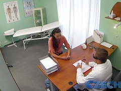 Czech doctor intimately examines a married woman videos