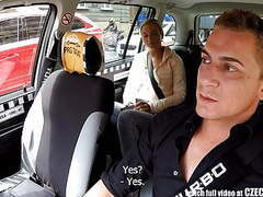 Czech blonde rides taxi driver in the backseat movies at kilomatures.com
