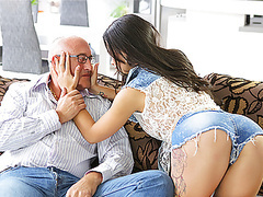 Old4k. unsatisfied chick motivated old dad to drill her... movies at find-best-ass.com
