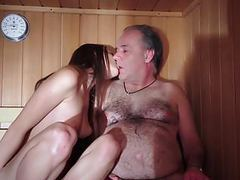 Dad fucked beautiful virgin young pussy gives blowjob gaggin tubes