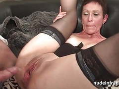 Horny french mature deep throat and hard banged and fisting tubes