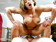 My dirty hobby - hardcore sex and lots of muscle movies at kilogirls.com