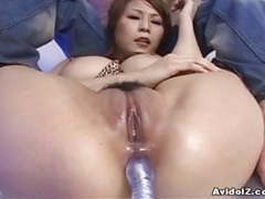 Busty japanese babe dildoed in ass uncensored movies at freekilosex.com