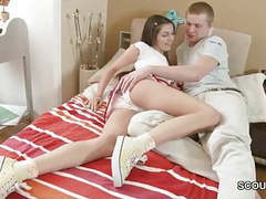 Step-brother wake up sister in panty to fuck when home alone videos