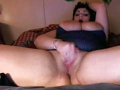 Huge boobed gothic bbw fucks herself with a dildo videos