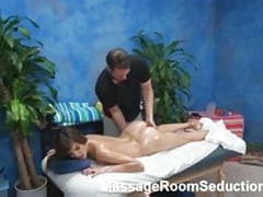 Horny slut seduced by massage therapist videos