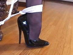 Bondage with sexy stockings & high heels (black 6inch pumps) movies at kilogirls.com