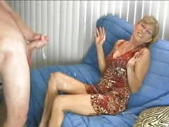 Awesome handjob with humorous ending movies