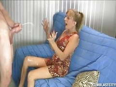 Naughty mature lady gets a cumblast videos
