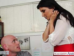 Office babe in high heels romi rain fucking tubes