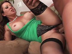 Mature in stockings & heels fucks bal guy (top mature) tubes