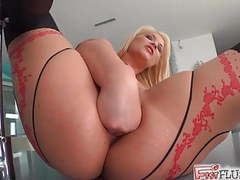 Lana stuffs her fist deep inside her hot pussy movies
