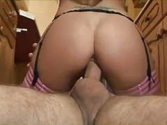 Blonde milf does anal in the kitchen movies