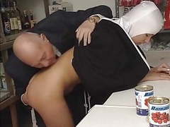 Nun and dirty old man - soft movies at sgirls.net