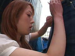 Cute japanese babe gets her pussy stuffed movies